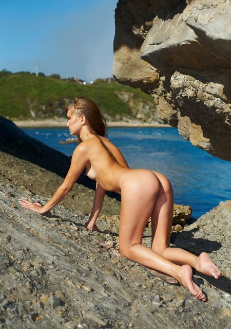 nudist on Lesbos